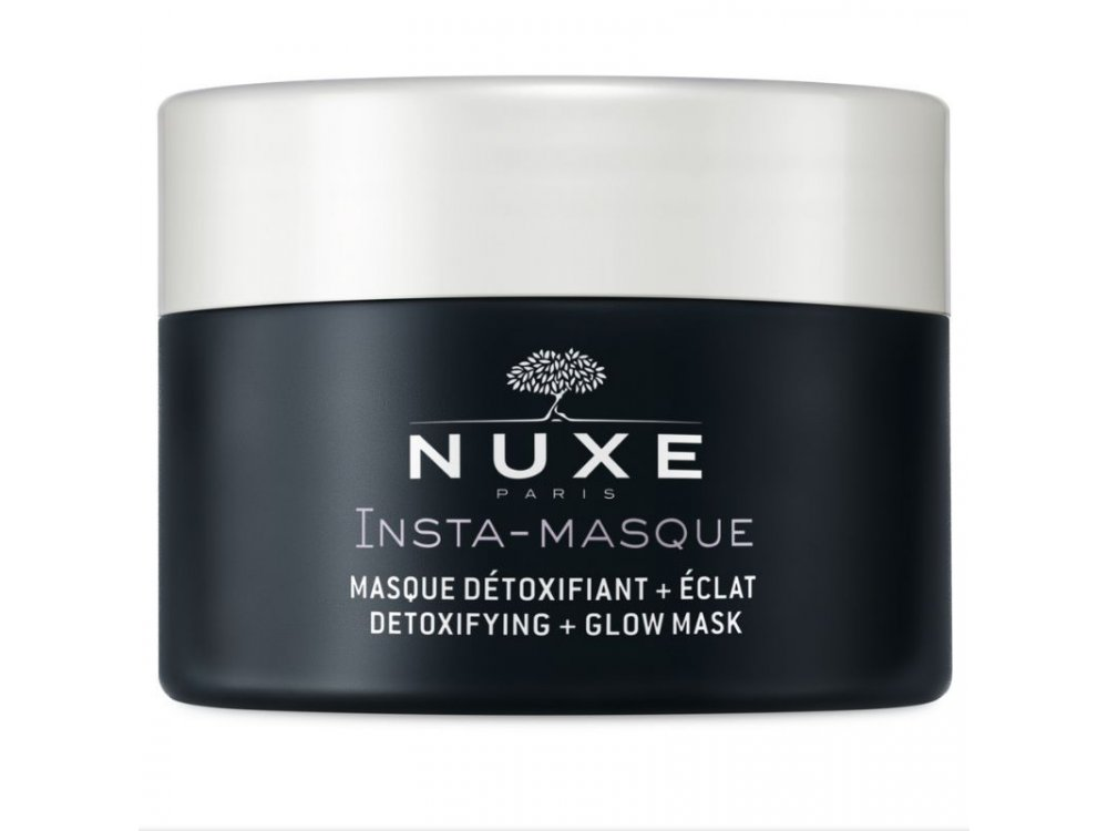 Nuxe Insta-Masque Detoxifying & Glow Mask with Rose and Charcoal, Μάσκα Για Αποτοξίνωση & Λάμψη 50ml