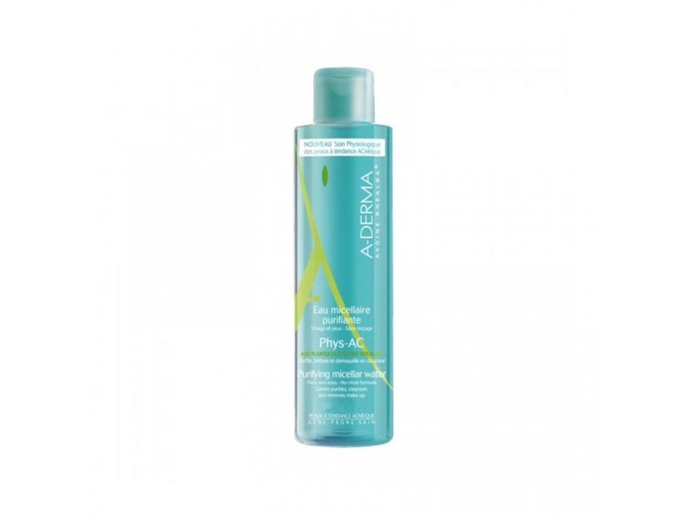 A-Derma, Phys-AC Eau Micellaire Purifiante Εξυγιαντικό Νερό Καθαρισμού με Μικύλλια Για Λιπαρές Επιδερμίδες Με