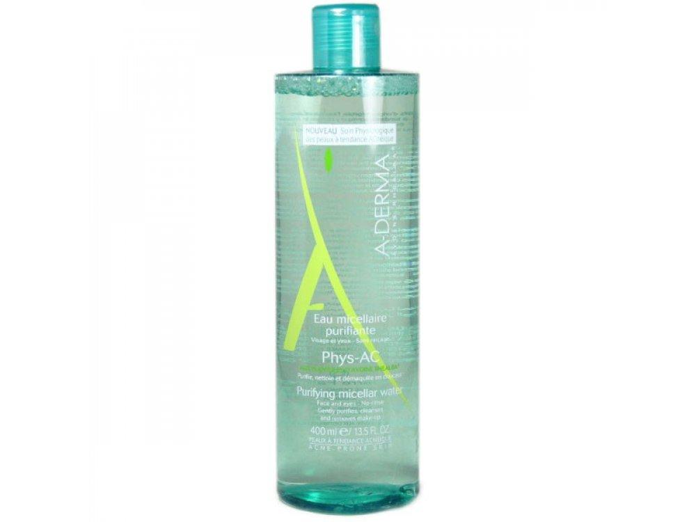 A-Derma, Phys-AC Purifying Micellar Water, Λοσιόν Καθαρισμού Για Επιδερμίδες Με Τάση Ακμής, 400ml -20%