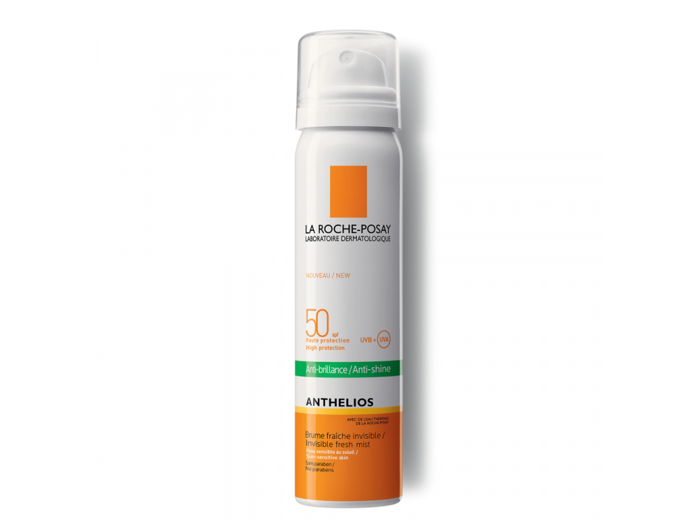 La Roche Posay Anthelios Anti-Brillance Mist SPF50, Αντηλιακό Προσώπου σε Σπρέι με Άρωμα 75ml