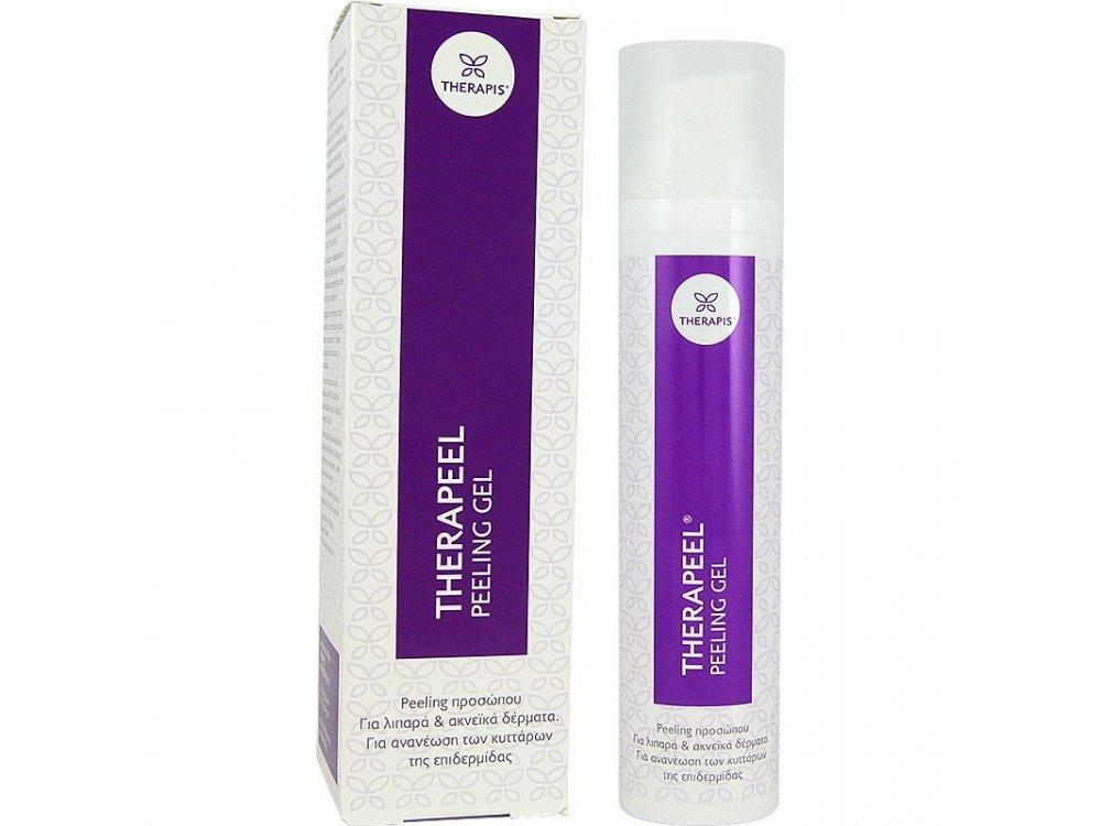 Therapis Therapeel Peeling Gel, Απολεπιστικό Προσώπου για Λιπαρά & Ακνεϊκά δέρματα, 100ml
