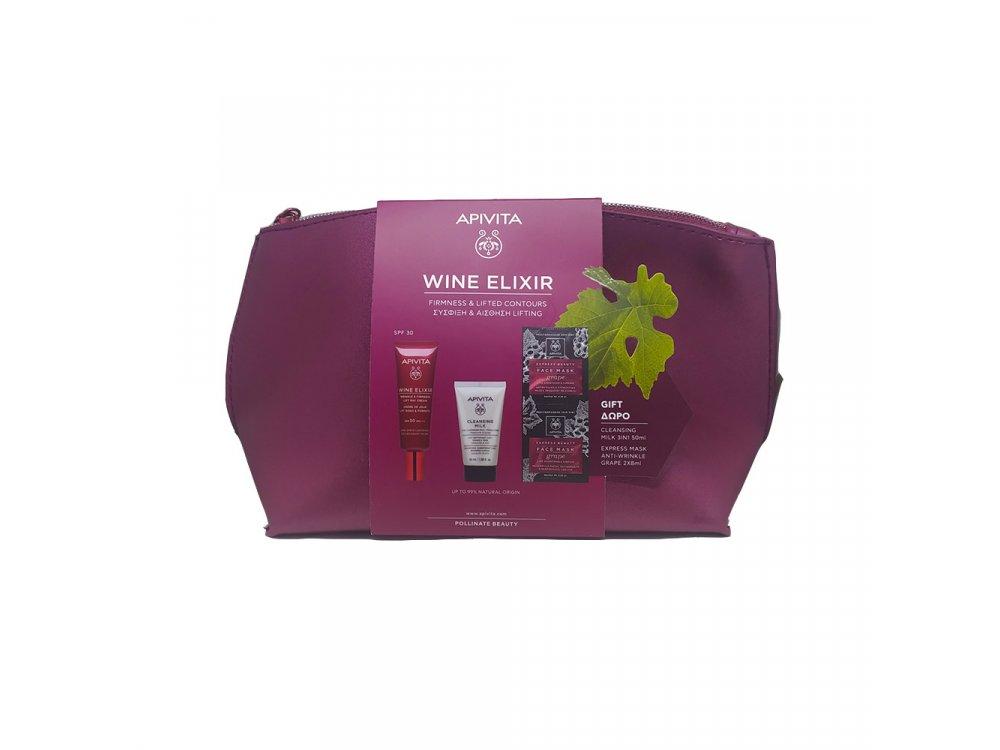 Apivita Promo Wine Elixir SPF30 40ml & ΔΩΡΟ Cleansing Milk 50ml & Αντιρυτιδική και Συσφιγκτική Μάσκα με Σταφύλ