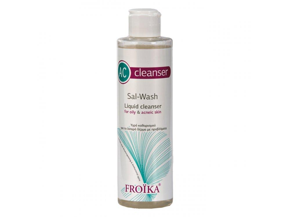 Froika, AC Sal Wash Cleanser, Υγρό Καθαρισμού-Λιπαρό Δέρμα Με Προβλήματα, 200ml