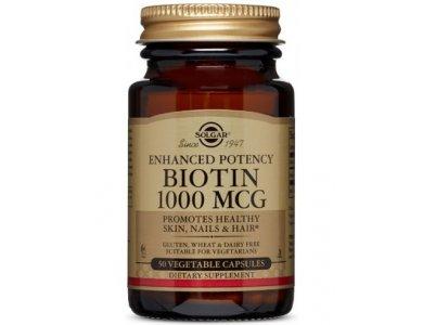 SOLGAR BIOTIN 1000MCG 50 VEG. CAPS