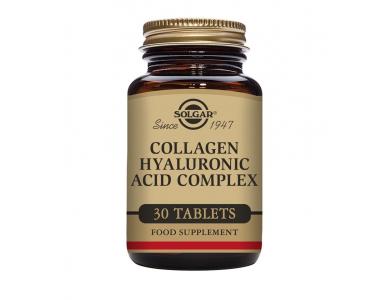 Solgar Collagen Hyaluronic Acid Complex Συμπλήρωμα Διατροφής Με Υαλουρονικό Οξύ 30 Ταμπλέτες