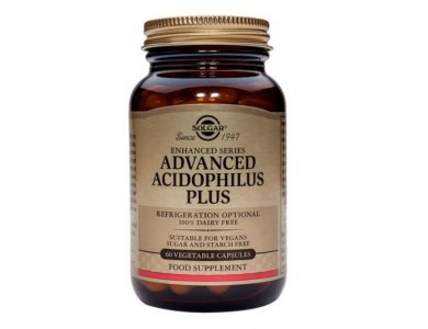 SOLGAR Advanced Acidophilus Plus, Προβιοτική Φόρμουλα (veg), 60caps