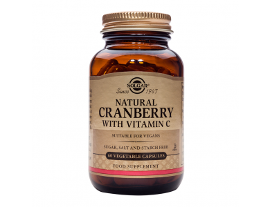 SOLGAR CRANBERRY EXTRACT WITH VIT. C 60 VEG. CAPS