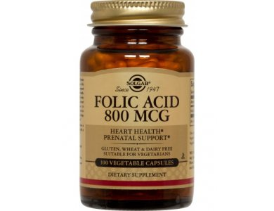 SOLGAR FOLIC ACID 800MG 100TABS