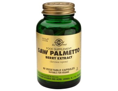 SOLGAR SFP SAW PALMETTO BERRY EXTRACT VEG. CAPS 60S
