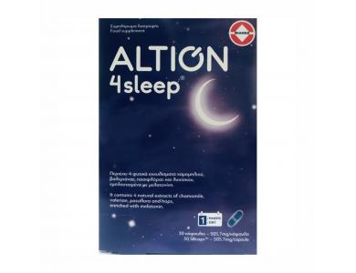 Altion 4sleep Συμβάλλει στην Βελτίωση της Ποιότητας του Ύπνου - Αϋπνία, 30caps