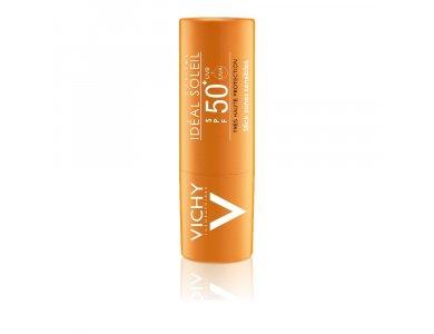 Vichy Ideal Soleil Stick SPF50+, Stick για Ευαίσθητες Ζώνες, Μύτη, Χείλη, Ντεκολτέ (9gr)