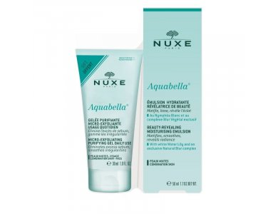 NUXE Aquabella Beauty-Revealing Moisturising Emulsion 50ml & Aquabella Micro-Exfoliating Purifying Gel 30ml