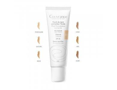 Avene Couvrance Fond de Teint Correcteur Fluide Naturel 02 SPF20, Υγρό Διορθωτικό Make up Σωληνάριο 30ml