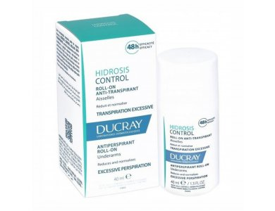 Ducray Hidrosis Control Hand & Foot Cream, Κρέμα κατά της Εφίδρωσης σε Χέρια και Πόδια, Roll-On 40ml