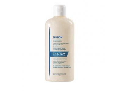 Ducray Elution Shampooing, Σαμπουάν για Κανονικά/Εύθραυστα Μαλλιά,Μειώνει την Υποτροπής της Πιτυρίδας 200ml