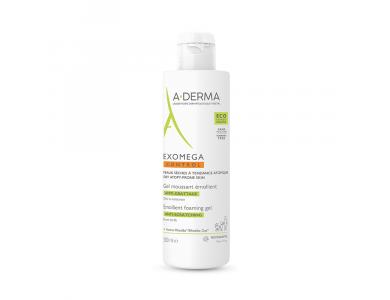 A-DERMA - EXOMEGA Control Gel Moussant Emollient, Αφρός Καθαρισμού για ατοπικά & ευαίσθητα δέρματα, 500ml
