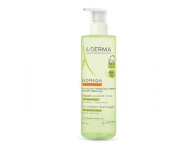A-Derma Exomega Control Gel Lavant Emollient 2 σε 1 - Σώμα & Μαλλιά, 500ml