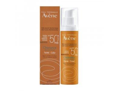 Avene Sun Care Cleanance Solaire Tinted SPF50+ Αντηλιακή Κρέμα Προσώπου με Χρώμα για Δέρμα με Τάση Ακμής, 50ml
