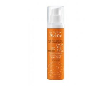 Avene Solaire Anti Age Teinte SPF50+, Αντιγηραντική Αντηλιακή Κρέμα Προσώπου με Χρώμα, Ευαίσθητο Δέρμα, 50ml