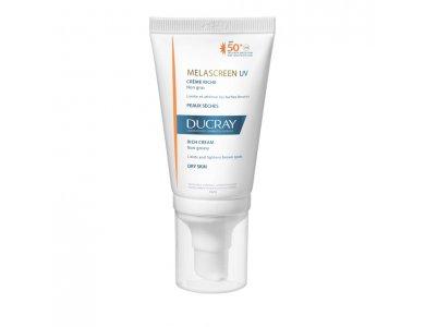 Ducray Promo Melascreen Cr?me Riche SPF50+, Αντηλιακή Προσώπου για Υπερμελάγχρωση από τον Ήλιο για Ξηρές 40ml