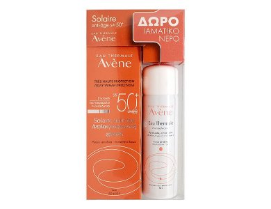 AVENE SUN Cream 50+ spf 50ml Antiage + Δώρο Eau Thermale 50ml