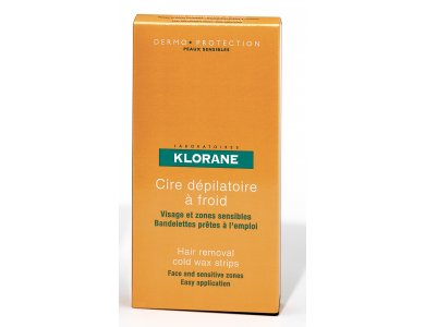 Klorane Cold Wax Small Strips with Sweet Almond, διπλές ταινίες αποτρίχωσης, 6τμχ