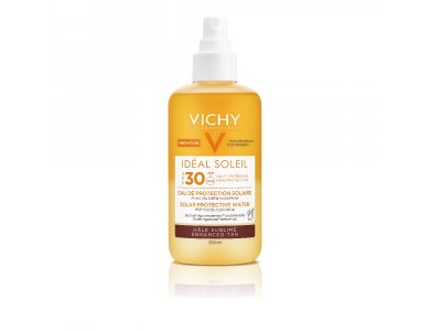 Vichy Ideal Soleil SPF30 Νερό Προστασίας Από τον Ήλιο με Βήτα Καροτίνη, Λαμπερό Μαύρισμα 200ml