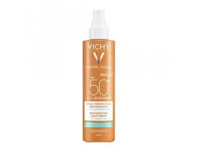 Vichy Capital Soleil Beach Protect Anti-Dehydration Spray SPF50, Αντηλιακό Σπρέι για Προστασία από το Αλάτι κα