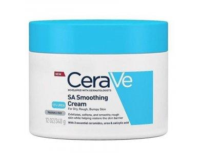 CeraVe SA Smoothing Cream 340g, Ενυδατική και απολεπιστική κρέμα