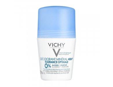 Vichy Deodorant Mineral 48H Roll On Tolerance Optimale 0% Alcool 50ml, αποσμητικό