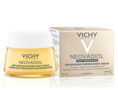 Vichy Neovadiol Replenishing Firming Night Cream, Κρέμα Νύχτας για την Επιδερμίδα στην Εμμηνόπαυση, 50ml