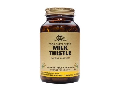 Solgar Milk Thistle Συμπλήρωμα Διατροφής με Εκχύλισμα από Γαϊδουράγκαθο, 100 caps