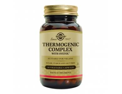 SOLGAR Thermogenic Complex, Φυτικές Κάψουλες (VEG) για τον Έλεγχο του Βάρους, 60caps