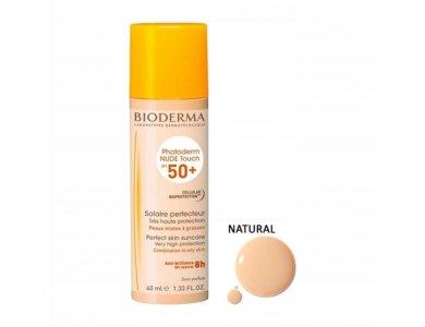 Bioderma Photoderm Nude Touch SPF50+ Αντηλιακή Κρέμα Προσώπου με Φυσική Απόχρωση, 40ml
