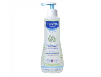 Mustela Cleansing Water-Normal Skin, Νερό Καθαρισμού με Βιολογικό Αβοκάντο, 300ml