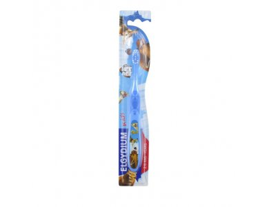 ELGYDIUM KIDS ICE AGE T/B 1/12, Παιδική Οδοντόβουρτσα, 2 έως 6 ετών, Γαλάζιο - Μωβ