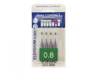 Elgydium Clini mono Compact 0.8 purple, Μεσοδόντια Βουρτσάκια