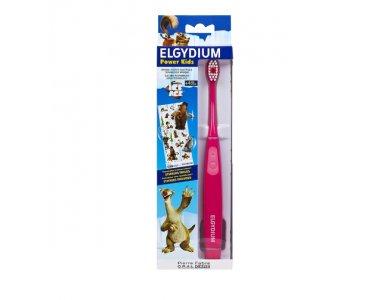 Elgydium Power Kids Ice Age Toothbrush Pink Ηλεκτρική Οδοντόβουρτσα Για Παιδιά, 1 τμχ