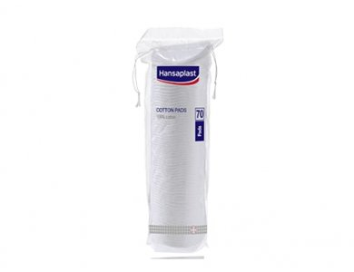 Hansaplast Cotton Pads Βαμβάκι Διπλής Όψης, 70 τμχ