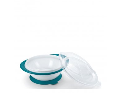 Nuk Easy Learning Bowl, Μπολ Φαγητού με 2 Καπάκια 6m+ Μπλε