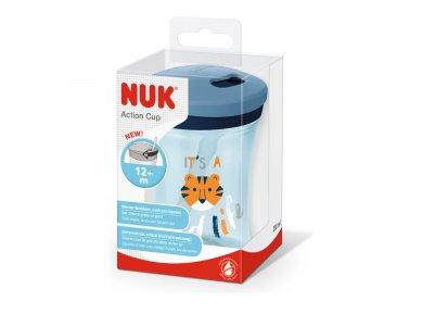 Nuk Action Cup 12m+ (10.751.137) Μπλε/Τίγρεις 230ml