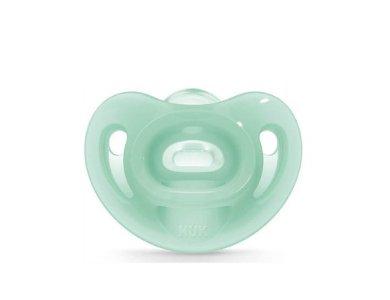 Nuk Sensitive Πράσινη Πιπίλα Σιλικόνης 0-6 Μηνών 1Τμχ.