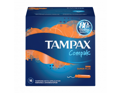 TAMPAX Compak Super Plus 16s Protective Skirt