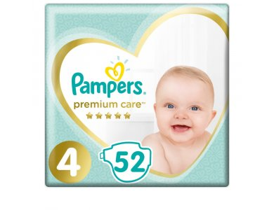 Pampers Jumbo Premium Care No4 Maxi (9-14kg) 52τμχ