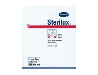 Hartmann Sterilux Αποστειρωμένες Γάζες 17x30cm, 12τμχ