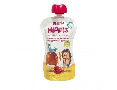 Hipp Hippis Sport Βιολογικό Παρασκέυασμα Φρούτων Μήλο, Μπανάνα, Βατόμουρα & Δημητριακά Ολικής Άλεσης 100gr