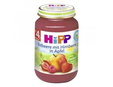 HIPP Βρεφική Φρουτόκρεμα με Μήλο, Φράουλα και Βατόμουρο 190g