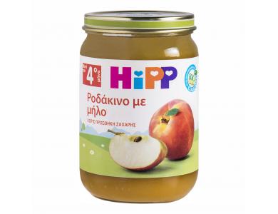 Hipp Φρουτόκρεμα Ροδάκινο με Μήλο 4m+, 190gr