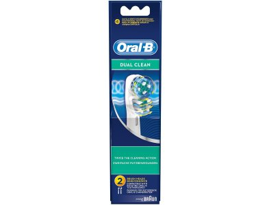 ORAL B ΑΝΤΑΛΛΑΚΤΙΚΑ DUAL CLEAN Ανταλλακτικά Βουρτσάκια 2TEM