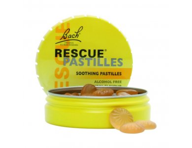 Power Health Bach Rescue Remedy Pastilles Παστίλιες Κατά του Άγχους και του Στρες με γέυση πορτοκάλι (50g)